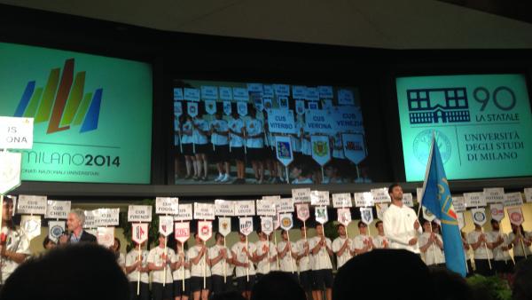 Cerimonia di inaugurazione dei Campionati Nazionali Universitari 2014