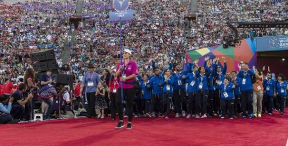 La delegazione italiana ai Giochi Mondiali Special Olympics 2015