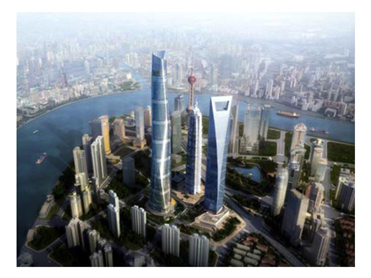 Ascensori Mitsubishi Electric dentro la Shangai Tower
