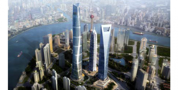 Ascensori Mitsubishi Electric dentro la Shangai Tower