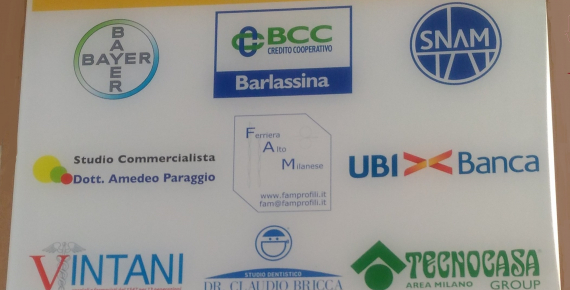 Targa dedicata alle aziende che hanno supportato l'Associazione Dianova